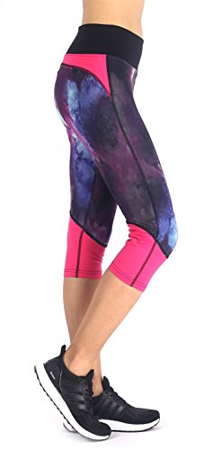 Sugar Pocket Womens Outdoor Capris Fitness Tights Leggings Walking Running Yoga Pants