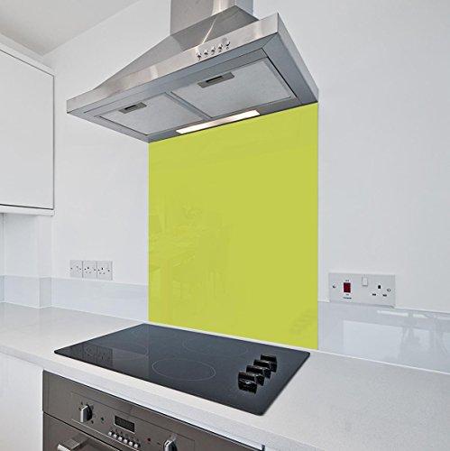 Lime Grün Küche Glas Splashback von colour2glass-6mm dick hitzebeständig Herd gehärtetem Glas splashbacks, lime, 600 x 750mm