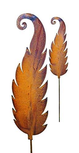 Blümelhuber Gartenstecker Farn Metall Rost Gartendeko Edelrost 114cm