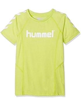 Hummel Joven HML Pitter S/S–Camiseta, niño, HML Pitter S/S, Verde Lima, 152