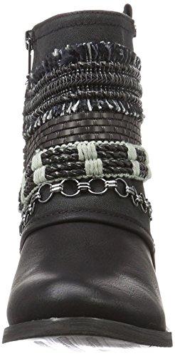 Bullboxer Ankle Boots, Bottes Motardes femme Noir