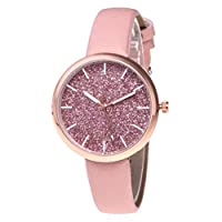 Bswish Women Simple Starry Watch PU Leather Strap Wristwatch Casual Simple Quartz Movement Sale Watches