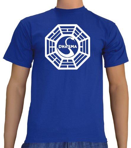 Touchlines - t-shirt, uomo, blu (royal), s
