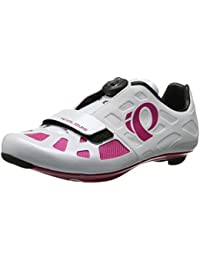Pearl Izumi Women's W Elite RD IV Cycling Shoe, White/Pink Punch, 36 EU/5.2 B US