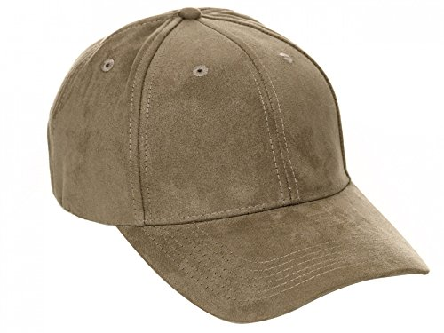 Velour-baseball-cap (ArizonaShopping - Accessories Herren Strapback Velour Cap Baseball Mütze Wildleder Kappe Snapback H2358, Größe Damen:one-size, Farben:Khaki-Grün,Khaki-Grün,one-size)