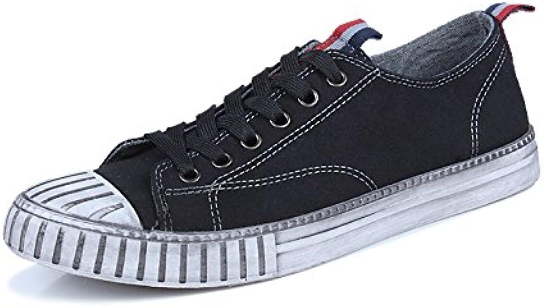 Scarpe da skateboard casual casual casual scarpe uomini giapponesi shell testa uomini occasionale espadrilli,nero,44   Design lussureggiante  0a9a10