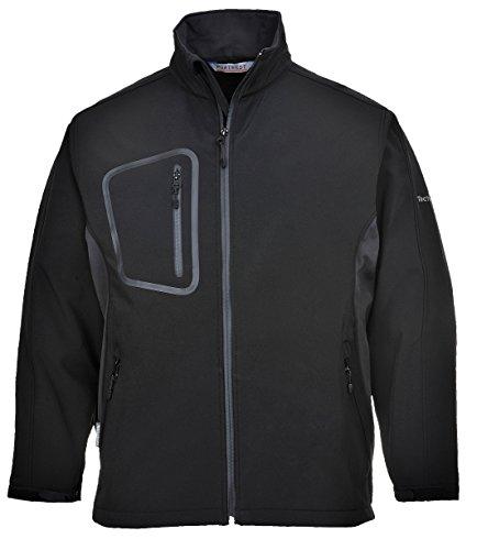 Preisvergleich Produktbild PORTWEST TK52 - Duo Softshell Jacke, 1 Stück, XL, Schwarz, TK52BKRXL