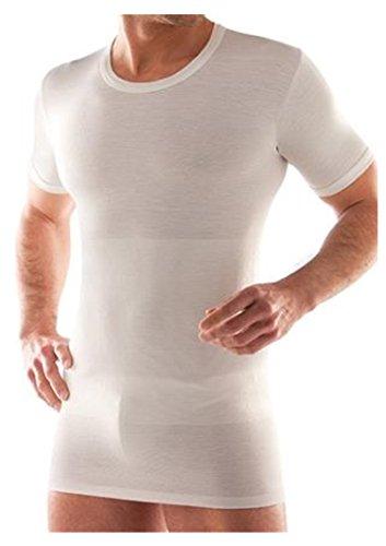 Maglia e pancera in lana e cotone intima uomo contenitiva (4°(media), bianco)