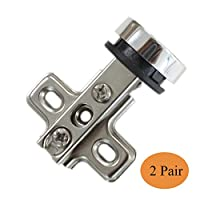 4 X Probrico Furniture Wine Cabinet Hinges Cupboard Door Hinge Glass To Glass CH101GA