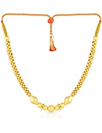 Malabar Gold and Diamonds Tushi Collection 22k (916) Yellow Gold Choker Necklace for Women