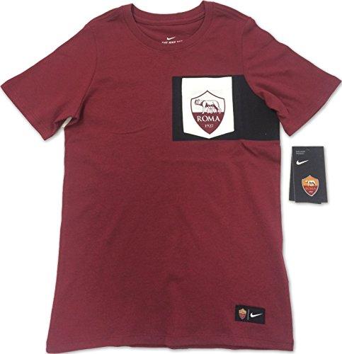 nike As Roma B Nk Tee Crest Camiseta de Manga Corta, Niños, Rojo (Team Red / Ivory), M