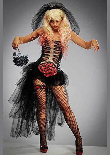 Struts Gruseliges Zombie-Braut-Kostüm der Frauen Halloween Small (UK 8-10)