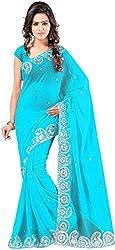 Aruna Chiffon Saree (ARNS_2_Blue)