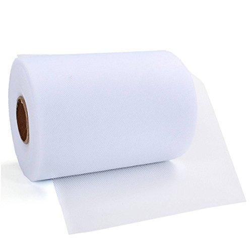 Weißer Tüllstoff
