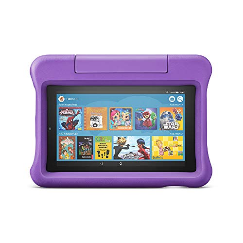 Fire 7 Kids Edition-Tablet, 7-Zoll-Display, 16 GB, violette kindgerechte Hülle