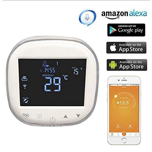 XSGDMN Smart Wi-Fi Thermostat, Home Electric Heizung Thermostat arbeitet mit Alexa, Touch Screen Display, Remote und Voice Control von iOS & Android App