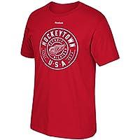 "Detroit Red Wings Reebok NHL ""hockeytown Estados Unidos"" camiseta de manga corta para hombre, Rojo"