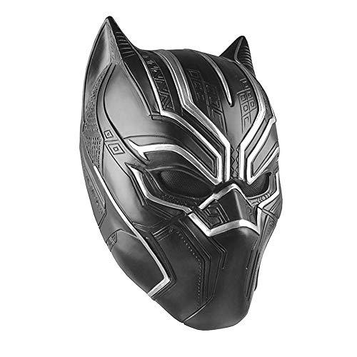 Latexmaske Black Panther Cosplay Maske schwarz für Erwachsene Herren