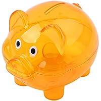 ODN Sparschwein aus Kunststoff Transparent Kreatives Schwein Form Spardose für Kinder (Orange) preisvergleich bei kinderzimmerdekopreise.eu