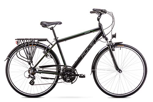 BikeShop. Trekkingrad - Bike - Fahrrad- Romet Wagant - Gängezahl  21 - Aluminiumrahmen - 28 Zoll - Größe 19'' - Schwarz Grün -