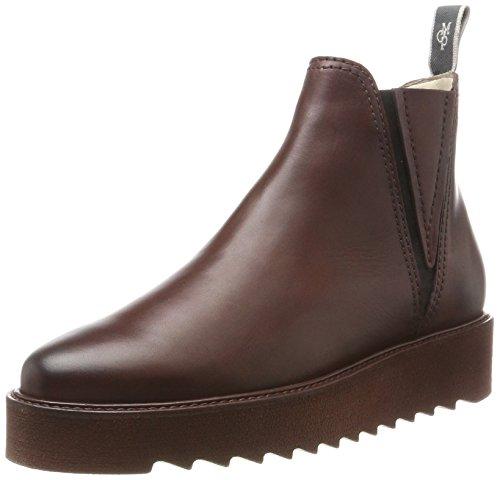 Marc O'Polo Flat Heel 70814245001125, Stivali Chelsea Donna Rot (Bordo)