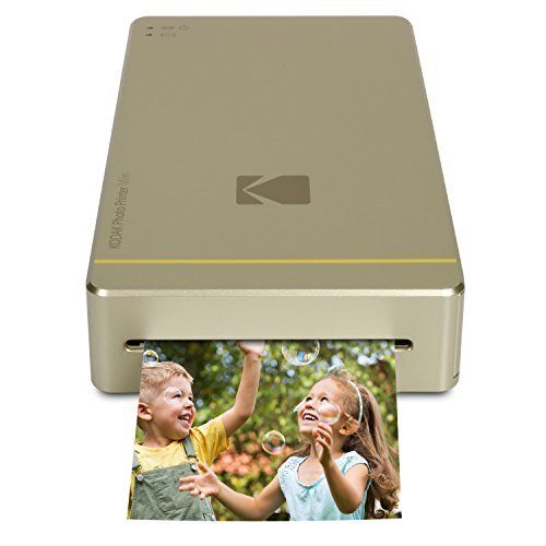 Kodak PM - Stampante fotografica mini con dock per iPhone e Android, oro