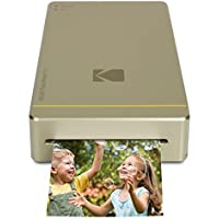 """Kodak Mini Instant Photo Printer Prints 2x3"""" Images 4Pass Technology WiFi & NFC compatible (Android & IOS) Gold"""