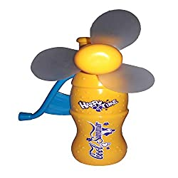 NPRC Portable Hand Crank Mini Fan Without Battery for Kids Toy- Yellow