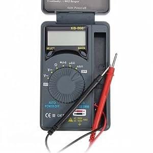 [Envoi GRATUIT 7~12 jours] XB-866 LCD Mini Auto gamme Pocket AC/DC multimetre numerique // XB-866 LCD Mini Auto Range AC/DC Pocket Digital Multimeter