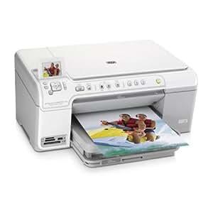 HP Photosmart C5380 All-in-One Photocopieuse / imprimante / scanner couleur jet d'encre copie (jusqu'à) : 31 ppm (mono) / 30 ppm (couleur) impression (jusqu'à) : 31 ppm (mono) / 30 ppm (couleur) 125 feuilles Hi-Speed USB