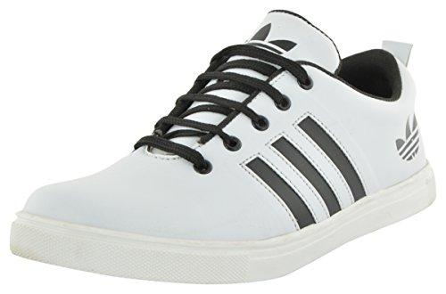 COMMS Men's White Canvas Sneakers - 7 UK