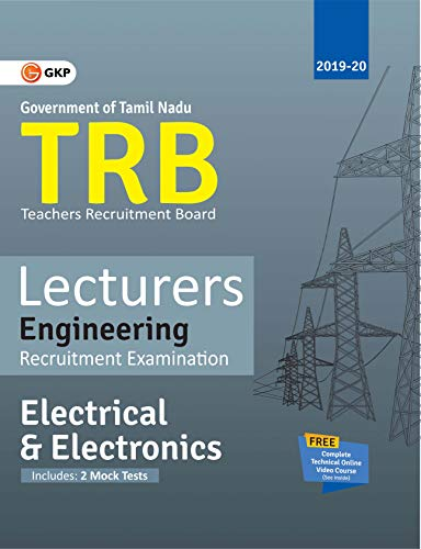 TRB 2019-20 : Lecturers Engineering - Electrical & Electronics Engineering