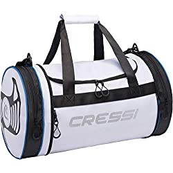 Cressi Rantau Bag Sac de Sport Cylindrique/Pliable Adulte Unisexe, Blanc/Noir, 55x30x30