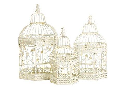 Lot de trois Cages en fer blanc