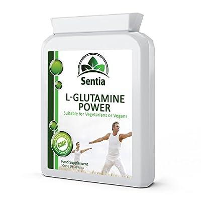 L-Glutamine Power - (UK Manufactured) High Strength 100% Pure Vegan Amino Acid x 90 Veggie Capsules. Suitable for Vegetarians & Vegans - 100% Satisfaction