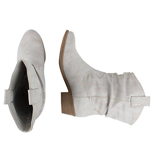 Japado , Bottes et bottines cowboy femme Gris - Gris