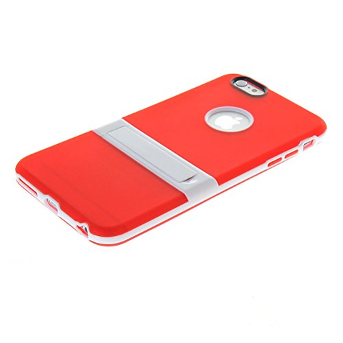 MOONCASE Brillare Gel TPU Silicone Housse Coque Etui Case Cover pour Apple iPhone 5 5S Claire Rouge