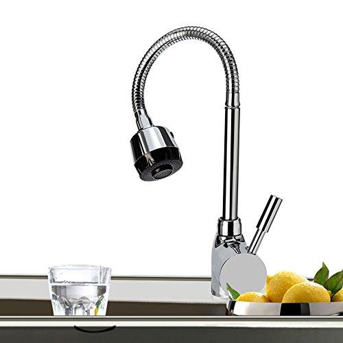 Grifo monomando para lavabo Grifo para lavabo para cocina 360 Grifo giratorio para tirar agua caliente y fría para lavadero Jardín al aire libre de Churun