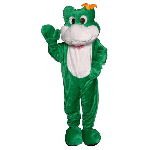 Dress Up America Frosch-Maskottchen-Kostüm des weißen u. Grünen -