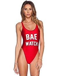 SKY Bling Bling !!! Mujeres Backless BAE WATCH Swimsuit Bodysuit Beachwear traje de baño Bañador