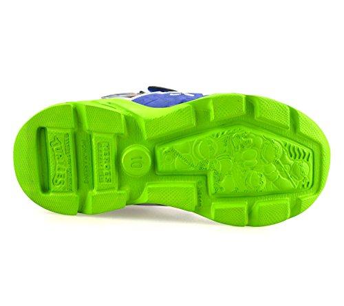 Teenage Mutant Ninja Turtles , Chaussures de ville à lacets pour garçon bleu / vert