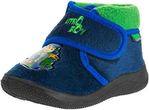 Beppi Kinder Hausschuhe Baby Schuhe - Lauflernschuhe mit Klett, Dunkelblau, 21