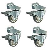 Casters 4 × Roulette, Roue de lit de Berceau Universelle pour Roulette de Meuble avec Accessoire muet de Frein