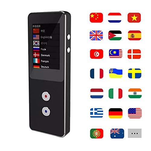 OMZBM Verbessertes Multifunktions-WiFi 4G-Gerät Für Mehrsprachige Übersetzungen,Zwei-Wege-Echtzeitstimme,Foto,Simultanübersetzer Für Den Dolmetscher Für 44 Sprachen, Schwarz