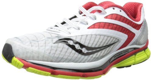 Saucony Mens Cortana 3 Running Shoe,Blue/Viziorange,12 M US Blanc / rouge / jaune citron