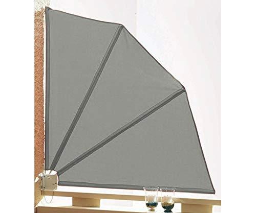 GRASEKAMP Qualität seit 1972 Sichtschutz Fächer 120x120cm Balkon Trennwand Grau