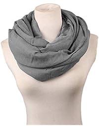 Vivianu donne ragazze autunno caldo e soffice sciarpa poliestere sciarpa ad  anello infinity colore solido oversize 0a3d737a36c8