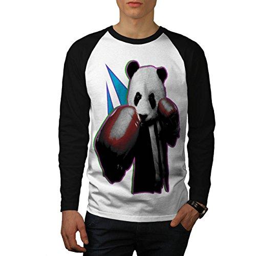Panda Box Tier Zufällig Spaß Männer S Baseball LS T-shirt | Wellcoda (Baseball Jersey Panda)