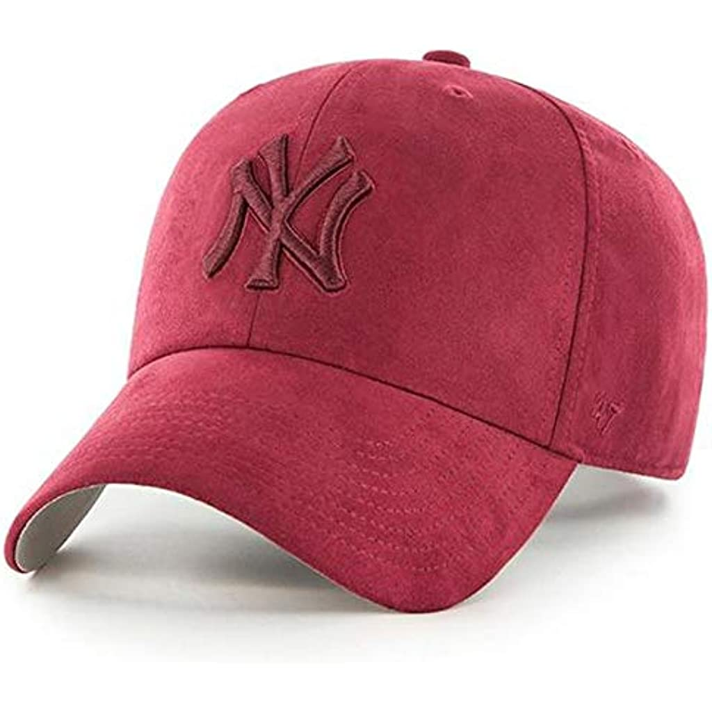 dd4b18c3abfc9 47 Brand Cappellino MLB New York Yankees Clean Up Curved V Relax Fit  Granato Regolabile