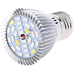 Baoblaze E27 8 / 10w LED Pflanzenlampe Garten Pflanzenleuchte Für Zimmerpflanzen, Pflanzenbau, Hydrokulturgarten, 10W 28 LED